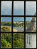 View from the window belfry Royalty Free Stock Photos