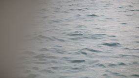 View from the window on the calm sea stock footage