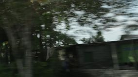 View from window of car stock footage