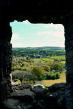 View from the Window of Corfe Castle in Dorset Royalty Free Stock Photography
