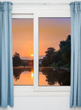 View from the window on the Royalty Free Stock Image