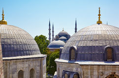 The view from the window of Hagia Sophia to the Blue Mosque, Ist Stock Photos