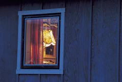 View into Window of Home Stock Photo