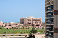 The view from the window hotel of the Emirates Palace Stock Photos