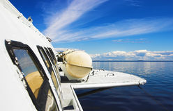 View from the window of hydrofoil Stock Image