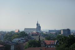 View from the window of Krakow, fog, Royalty Free Stock Photos