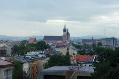 View from the window of Krakow, fog, Royalty Free Stock Image