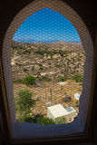 View through window on Messara Valley at Crete island in Greece Royalty Free Stock Image