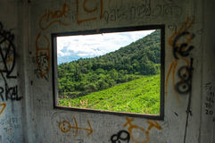 View from the window. Mountain view from the window Royalty Free Stock Images