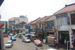 View of the street in historic George Town Stock Photo