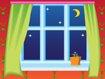 View from window on night sky Stock Images