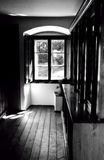 View Through The Window. Old Character house the view through the window from the Hall Royalty Free Stock Photography
