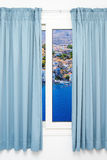 View from the window on the Royalty Free Stock Photo