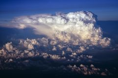 Clouds seen from plane Stock Image