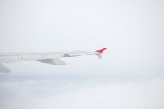 View from Window Plane in the air. View from Window Plane in the blue sky royalty free stock image