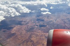 View from window plane. This view from window plane on Astralian continent on summer day royalty free stock photo