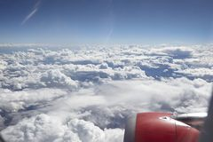 View from window plane. This view from window plane on Astralian continent on summer day stock images