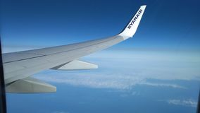 A view from the window of a plane royalty free stock photos