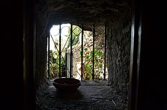 View through a window of ruin Royalty Free Stock Image