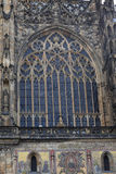 View of window St. Vitus Cathedral Stock Photography