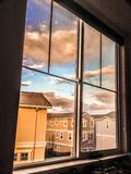 View from window. Suburb view from window Stock Photography