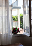 View from the window on a sunny day Stock Image