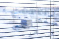 View in the window in winter Royalty Free Stock Photos