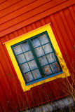View of windows of a house stock photography