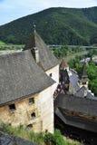 View from the windows of Slovakia castle - Oravsky hrad. Slovakia. 4.8.2017 stock photography