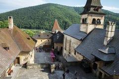View from the windows of Slovakia castle - Oravsky hrad. Slovakia. 4. 8. 2017 royalty free stock photo
