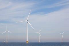 View of windpark in the Dutch Noordoostpolder, Flevoland Stock Photography