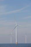 View of windturbines in the Dutch Noordoostpolder, Flevoland Royalty Free Stock Photos