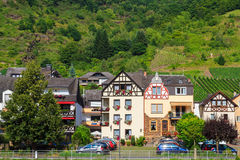View of the wine town Cochem at the Moselle Royalty Free Stock Photo