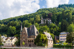 View of the wine town Cochem at the Moselle Stock Image