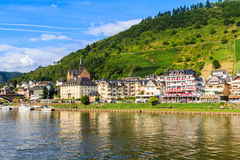 View of the wine town Cochem at the Moselle Royalty Free Stock Photos