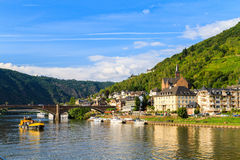 View of the wine town Cochem at the Moselle Stock Images