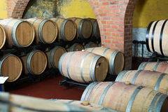 View on winery cellar with wine Royalty Free Stock Photo