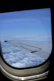View of Wing From Airplane Window Royalty Free Stock Images