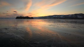 View of the winter Baikal stock video footage