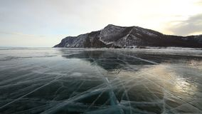 View of the winter Baikal stock video