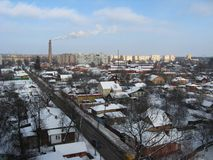 View on winter city Royalty Free Stock Photography
