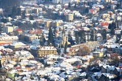 View of the winter city of Brasov, Romania stock photos