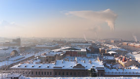 View on a winter city of St. Petersburg Royalty Free Stock Photo