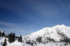 View of winter hiking Stock Photography