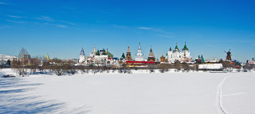 View winter Izmailovo Kremlin in Moscow Royalty Free Stock Photos