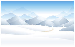 The view of Winter landscape Stock Photos