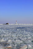 View of winter lighthouse Royalty Free Stock Photo