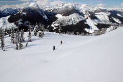 A view of winter mountain hiking Stock Photo