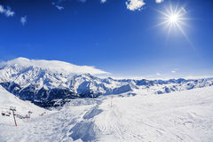 View of winter mountain landscape Stock Photos