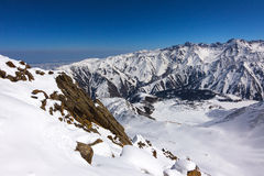 View of winter mountains near Almaty in Kazakhstan Stock Photos